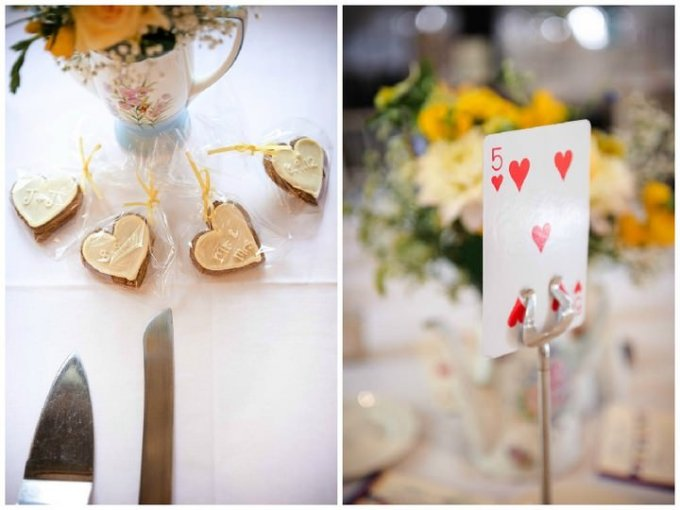 alice in wonderland themed wedding reception