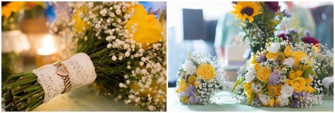 32 Burlap, Sunflowers and Hay Bale Wedding