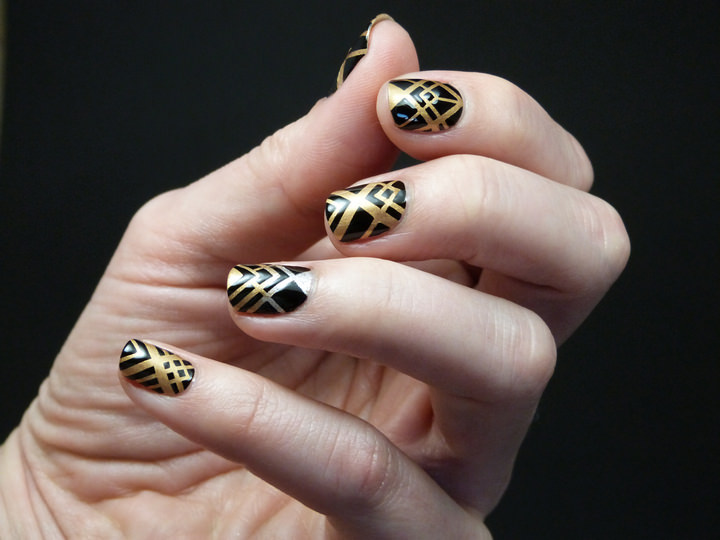 Art Deco Nail Final Look