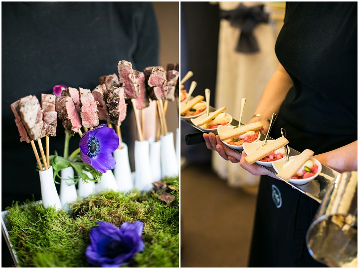 Non traditional menu options from kalm kitchen for Canape wedding