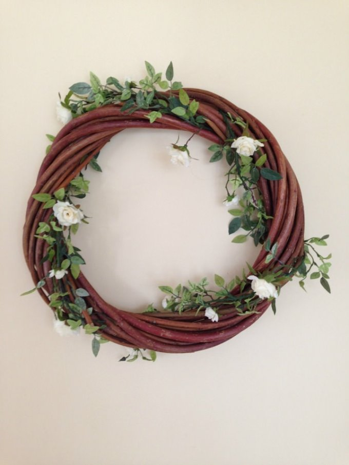 Diy tutorial willow wreath How to decorate a wreath