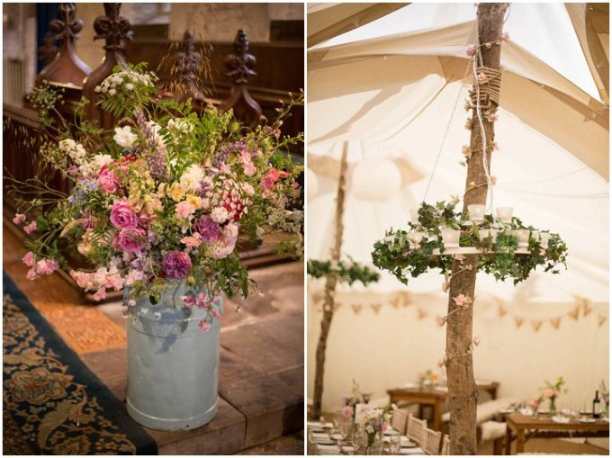 Laid Back Shropshire Wedding Flowers By Nicola Gough Photography