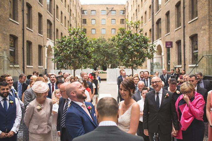 Modern London Wedding ceremony By Chris Blackledge Photography
