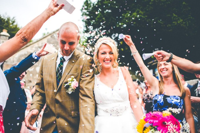 Becky and Matt's Cornish Garden Party Wedding with Sack Races and Street Food by Mark Shaw