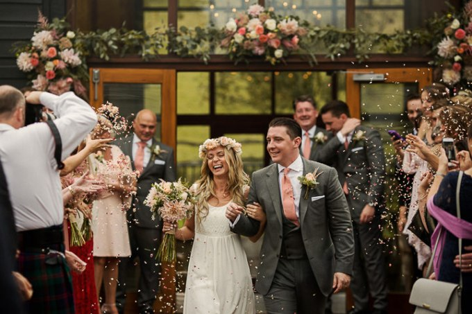 Lauren and Adam's Stylish Boho Inspired West Sussex Barn Wedding by Matt Parry