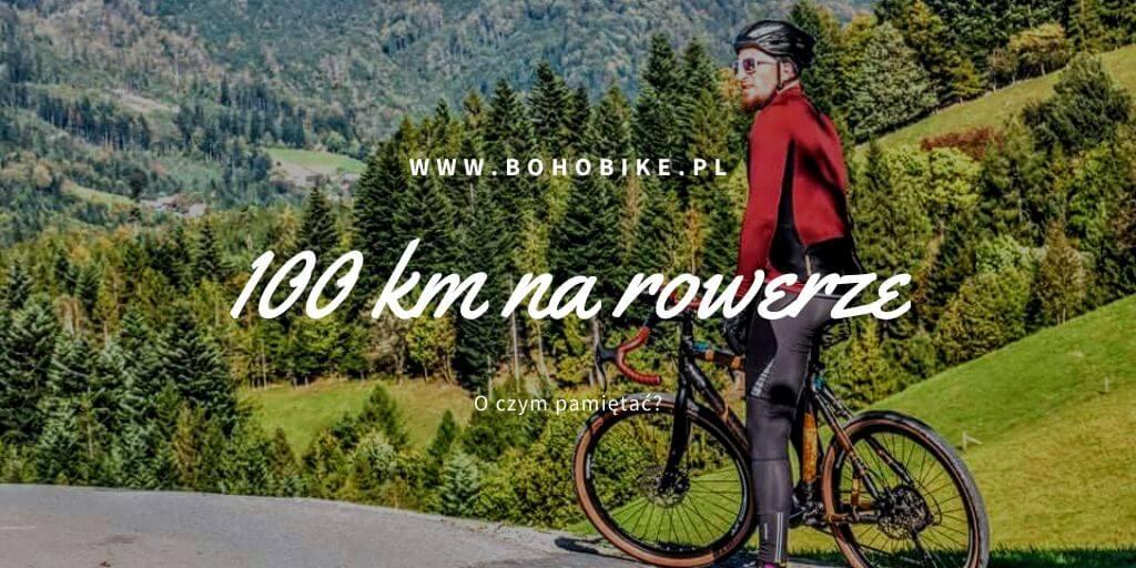 100 km na rowerze kolarz na tle Beskidów
