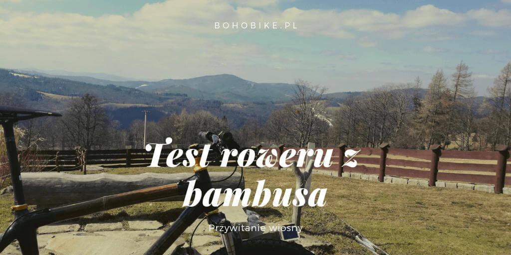 widok na beskidy rower z bambusa