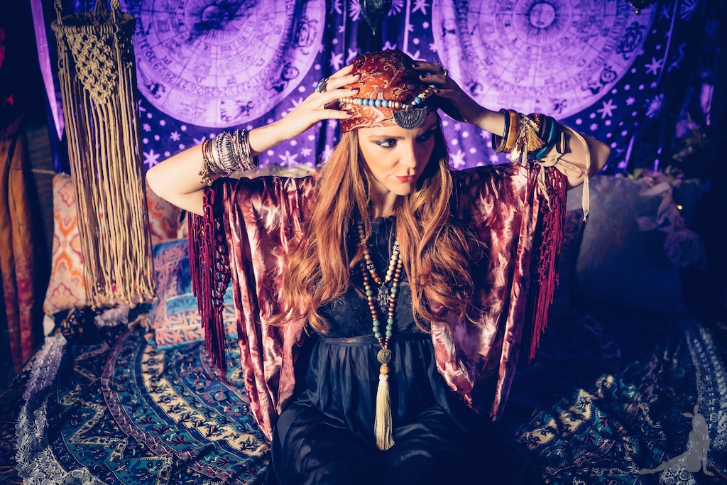 tracey-filapose-boho-bunnie-gypsy-jewels-bohemian-tapestry-decor-velvet-fringe-kimono-vintage-trippy-hippie-store-drip-candles-fortune-teller 11