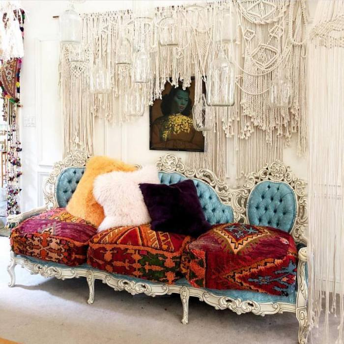 bohemian home decor ideas (57)