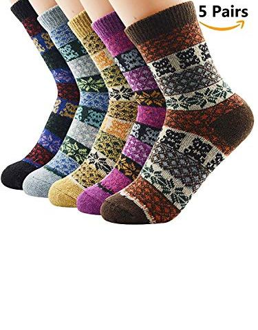 e6ffc0dceff Womens Thermal Wool Socks For Boots Mid Calf Winter Thick Crew Socks Gift  Ideas