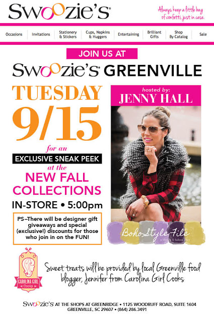 SWOOZIES GREENVILLE FALL 2015 SNEAK PEEK EVENT