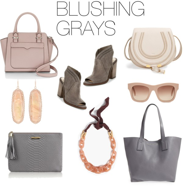 BLUSH + GRAY FALL ACCESSORIES