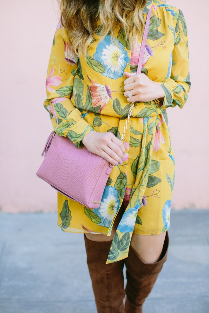 floral-dress-and-gigi-newyork-bag
