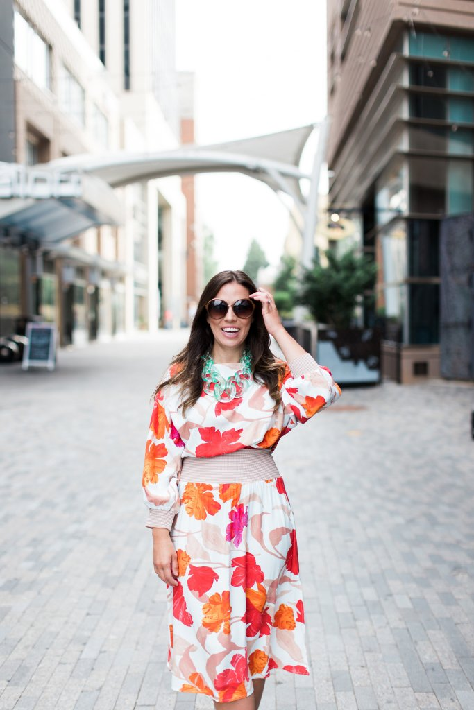 ANTHROPOLOGIE GEMMA FLORAL DRESS