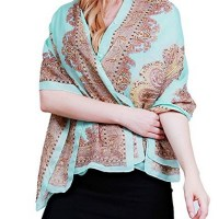 HENGSONG Women Beach Cover Up Blouse Tunic Scarf Boho Print Flower