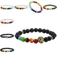 SUNYIK 7 Chakra Stone Bracelet,Semi Precious Stone Beaded,Ctystal Healing,Balancing Reiki,Yoga Jewelry