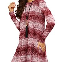 OEUVRE Women's Long Sleeve Shift Dress