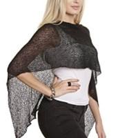 FrejaDesigns Women's Versatile Stretchable Rayon Cardigan Wrinkle Free Wrap Poncho