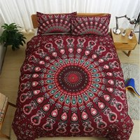 Jameswish Gorgeous Bohemian Ethnic Style 3D Bedding Sets 3PC BOHO Bedspread 1pc Duvet Cover 2pc Pillowcases Brushed Mircrofiber Twin Full Queen King California King Size