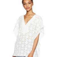 Ella Moon Women's Rainey Oversized Lace Trim Kimono Top