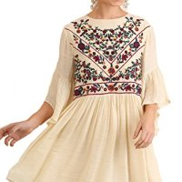 Umgee BoHo Bliss! Mandy + Ally's Embroirdered Bell Sleeve Dress