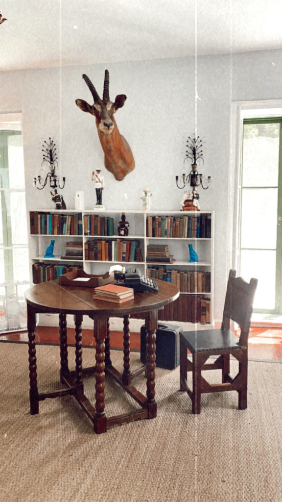 ernest hemingways writing studio at his home in key west