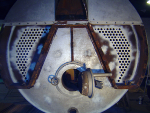 boiler with tubes removed