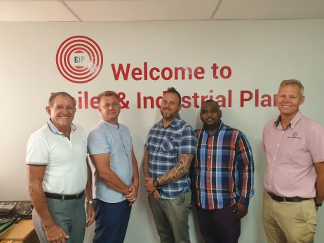 From Left to Right: Managing Director - Alwyn Swanepoel, Sales Manager - JJ Barnard, General Manager - Andries Verster, Technical Sales - Ashley Naidoo (AJ) and Director - Bryan Swanepoel.