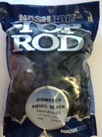Nash Boilies Top Rod 750g 15mm Monster Squid black - 1