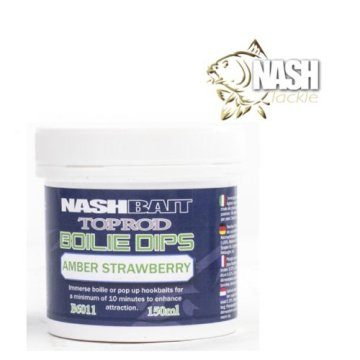 Nash Top Rod Boilie Dip Amber Strawberry 150ml - 1