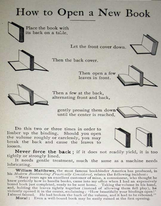 how to open a book