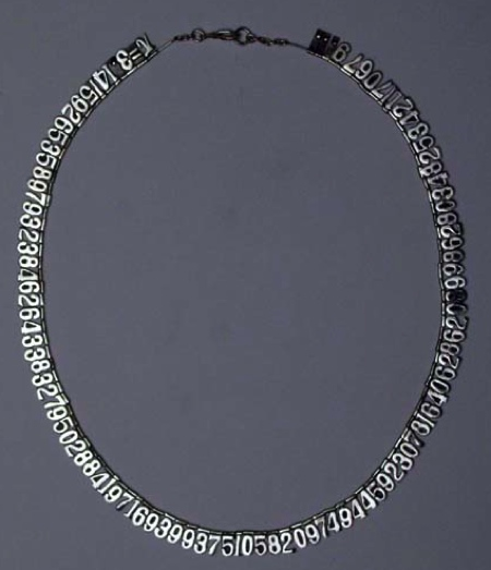 gerrymander jewelry pi necklace accurate to 100th decimal place boing boing 4751