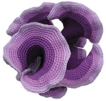 Purple knitted hyperbolic plane