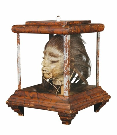 Authentic shrunken head up for auction boing boing for American classic antiques