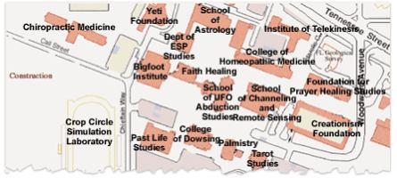 Florida State Campus Map.University Of Pseudoscience Boing Boing