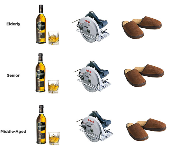 for example if dad fancies that he can tell the difference upgrade to lagavulin 16 and make do with ryobi in the shop
