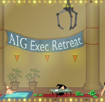 get back at the financial scoundrels at AIG
