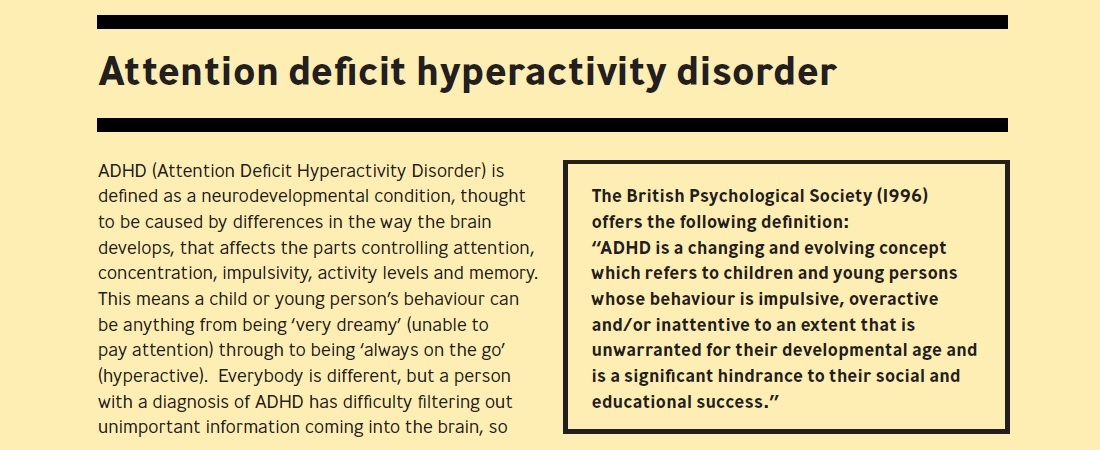 8e36266a39d6 Attention Deficit Hyperactivity Disorder ADHD – Schools mental health guide