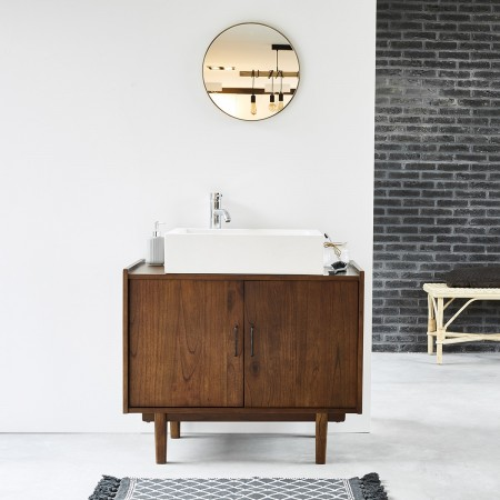 Meuble Sous Vasque Design Adapte A Votre Salle De Bain Teck Hevea Bdbd