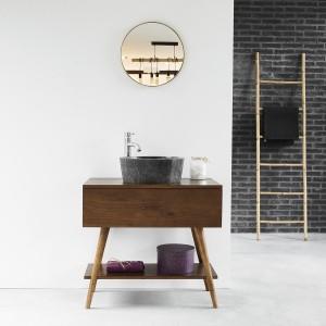 meuble de salle de bain en bois de