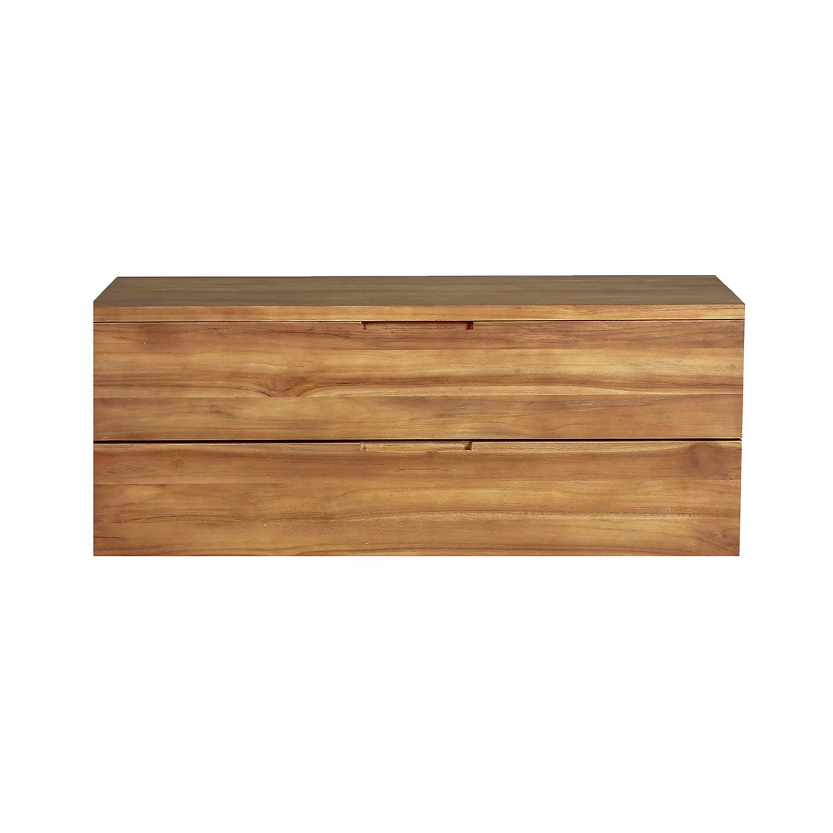 meuble de salle de bain suspendu en bois de teck 115 jane