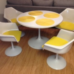 Tulip Table And Chairs Chair For Gamer Saarinen Style Boise Northender