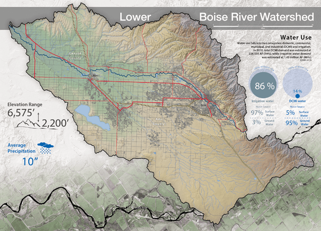 Boise Watershed Map