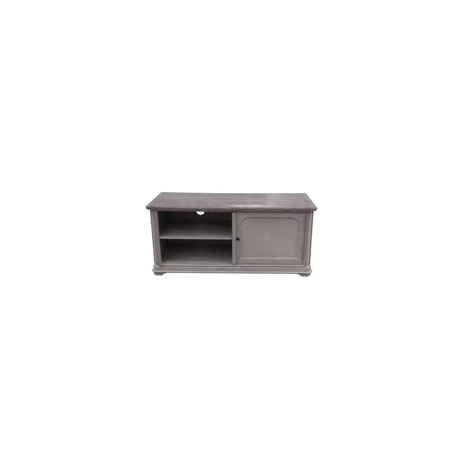 meuble tv manoir haut de gamme en bois manguier massif 1 porte et vernis cellulosique