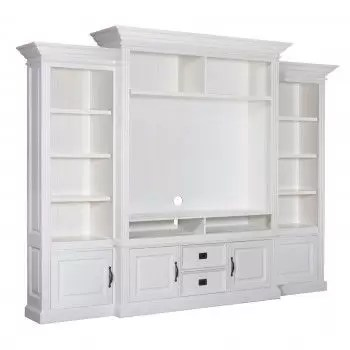 meuble tv avec etagere 4 portes 2 tiroirs romance