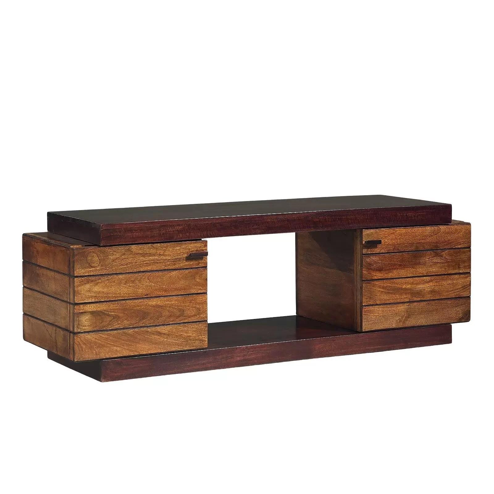 meuble tv bois bicolore manguier herods
