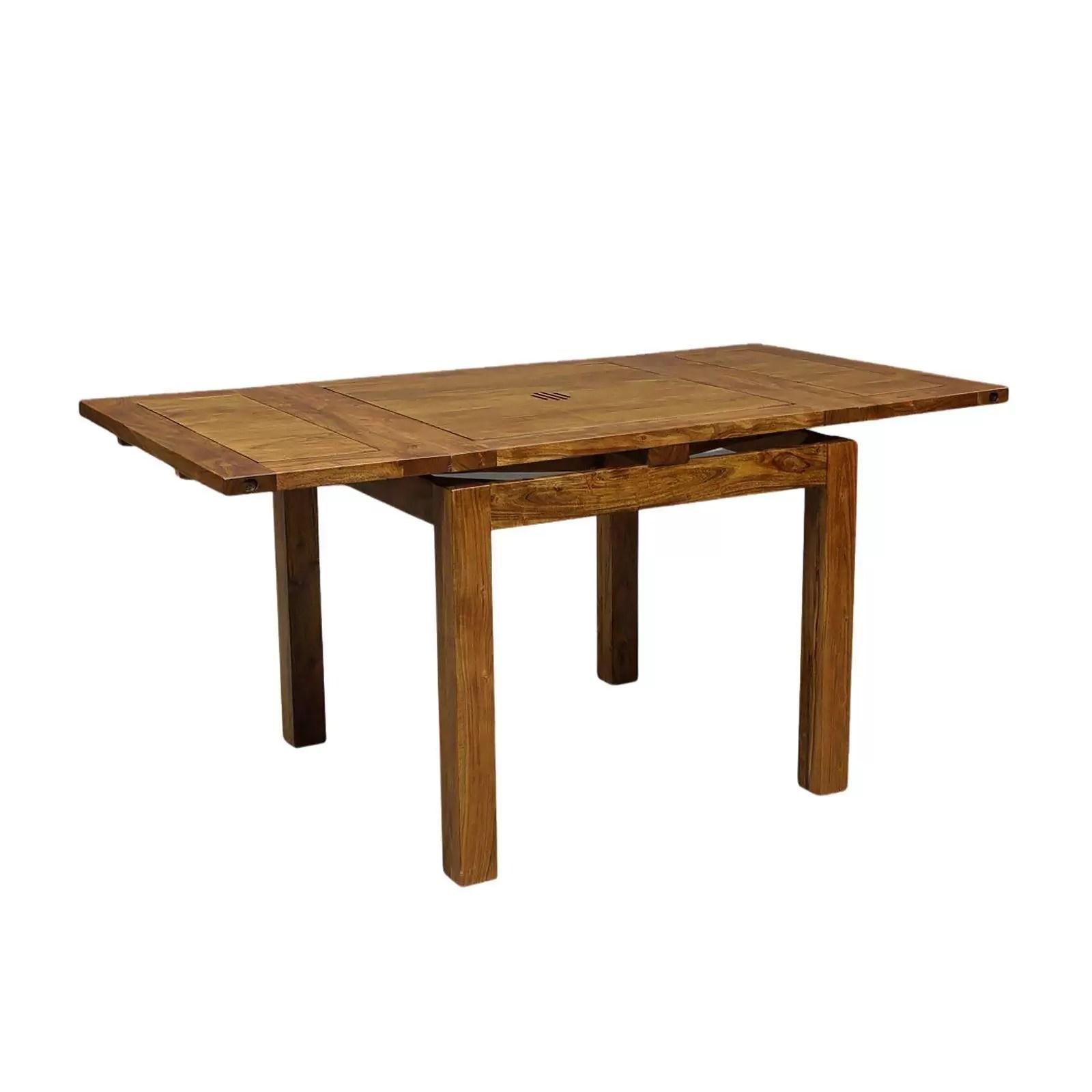 petite table a manger carree allonge 70 acacia gordon