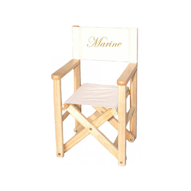fauteuil metteur en scene personnalise naturel