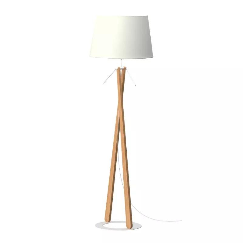 lampadaire en bois zazou ls par aluminor