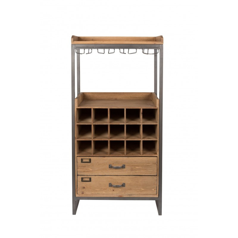 meuble bar a vin en bois et metal edgar boite a design